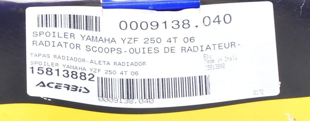 Пластмаси радиатор Yamaha YZF250